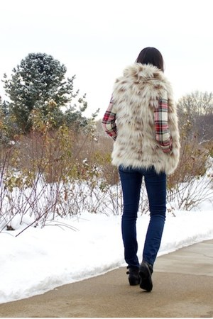 navy skinny Level 99 jacket - ruby red plaid jacket
