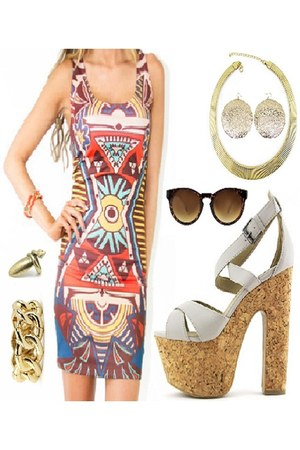 gold snake HAUTE & REBELLIOUS ring - multicolored HAUTE & REBELLIOUS dress