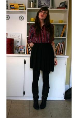 Gap shirt - Old Navy skirt - random tights - gianni bini boots