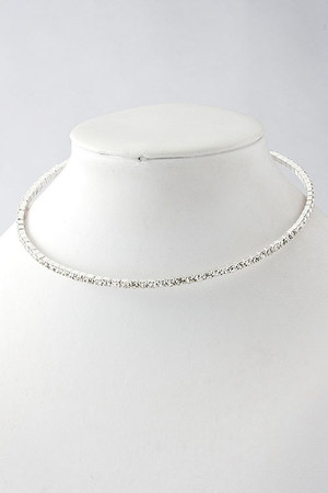crystal choker Emma Stine necklace