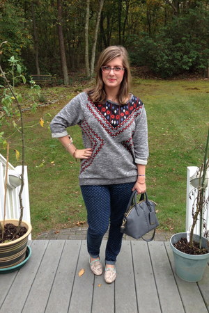 navy Target jeans - heather gray H&M sweater