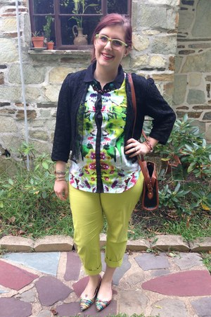 chartreuse firmoo glasses - black LC Lauren Conrad for Kohls cardigan
