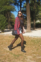 H&M t-shirt - Zara boots - Primark shirt - suiteblanco bag - Ray Ban sunglasses