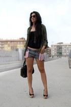 H&M top - BLANCO shirt - BLANCO bag - Sfera shorts - Ray Ban sunglasses