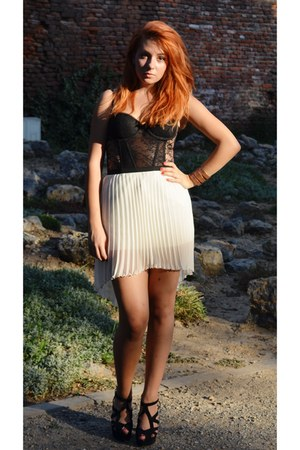 Zara skirt - H&M top - Zara heels