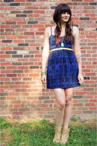 Forever21 dress - hemp Urban Outfitters boots - thrifted belt - Ebay necklace
