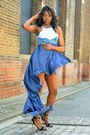 Light-blue-h-m-dress-navy-h-m-skirt-navy-necklace