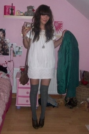 H&amp;M coat - TKmaxx dress - H&amp;M purse - new look socks - Matalan shoes - Dorothy P
