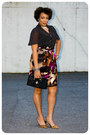 Handmade-skirt-clutch-the-limited-purse-handmade-blouse-dsw-pumps