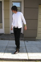 H&M sweater - Zara belt - Levis jeans - random brand from Bloomingdales shoes