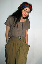 as turban Mango scarf - olive green Zara skirt - heather gray Zara t-shirt - Man