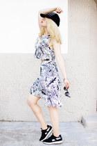 white Zara skirt - white Zara top - black Zara sneakers