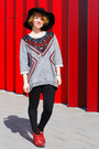 Brick-red-cowboy-zara-boots-heather-gray-new-folk-h-m-sweatshirt