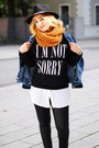 Black-printed-forever-21-sweatshirt-navy-denim-forever-21-jacket