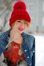 Red-cowboy-zara-boots-blue-spiked-denim-zara-jacket-tiger-zara-sweatshirt