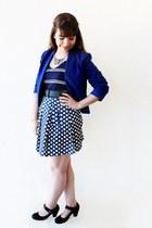 blue Kristines Collection blazer - navy stripes c&a dress