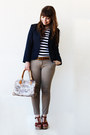 Navy-shop-one-blazer-carrot-orange-statement-por-um-fio-necklace