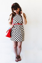red polka dots Borboletas na Barriga hair accessory