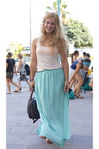 sky blue Zara skirt