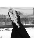 thrift black skirt