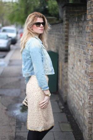 Ebay skirt - River Island jacket - D&G bag - Celine sunglasses