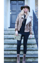 Miu Miu boots - asos jacket - Zara leggings - Zara bag