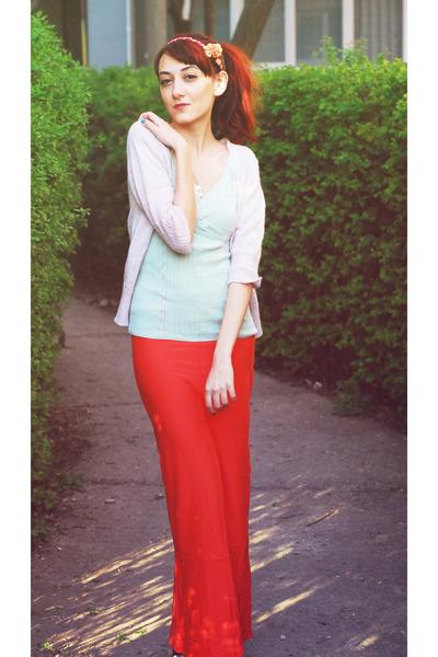carrot orange The Swiss Label skirt - aquamarine H&M shirt