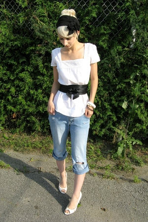 Levis Vintage Collection shirt - Dynamite belt - accessories - DIY jeans - stole