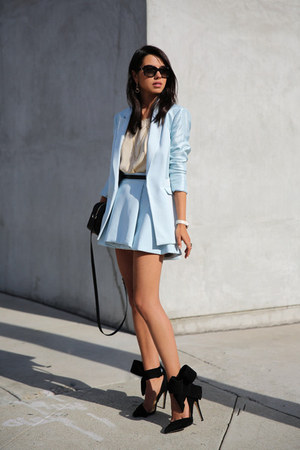 Light-blue-skirt