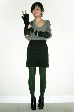 VPL top - H&M skirt - VPL tights - Zero by Maria Cornejo gloves - payless shoes
