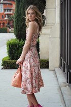 coral pink bag brahmin bag - coral floral dress new york and co dress