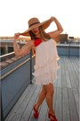 Blush-pink-h-m-dress-straw-asos-hat-red-velvet-boutique-heels