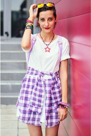 plaid Choies dress - Choies bag