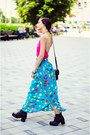 Nmenouno-top-dotted-maxi-nmenouno-skirt
