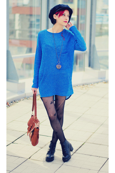 blue knitted nowIStyle top