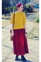 mustard second hand sweater - Msdressy dress