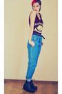 H-m-hat-vintage-jeans-second-hand-jeans-yellow-cardi-mango-cardigan