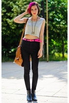 high waisted nowIStyle jeans - cropped nowIStyle top