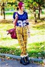 Choies-t-shirt-tartan-second-hand-pants
