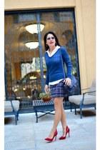 BCBG sweater - James Perse shirt - Zara skirt