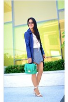 vintage coat - green satchel MMS bag - baraschi blouse - edita Tibi sandals