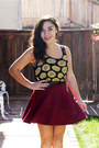 Black-forever-21-top-brick-red-forever-21-skirt