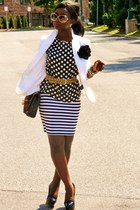 black JCrew shirt - white Forever 21 skirt