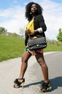 Black-express-blazer-black-aldo-bag-hot-pink-tracy-evans-shorts-mustard-ma