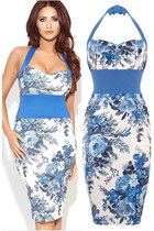 FDAvenue Amy Floral Halterneck Bodycon Dress