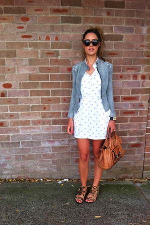 Hermes accessories - polka dots Frankie sunshine Vintage dress