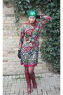 Vintage-60s-dress-italian-leather-vintage-70s-boots-hat