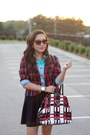 Red-forever-21-blazer-light-blue-banana-republic-shirt-red-prada-bag