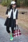 Nike-shoes-black-forever-21-dress-dark-gray-jcrew-sweater-red-prada-bag