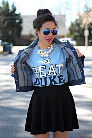 brown sandals Dolce Vita wedges - blue Belk jacket